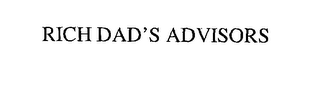 mark for RICH DAD'S ADVISORS, trademark #76194113