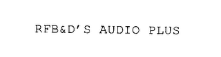 mark for RFB&D'S AUDIOPLUS, trademark #76195187