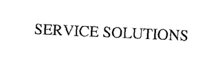 mark for SERVICE SOLUTIONS, trademark #76195738