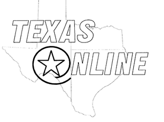 mark for TEXAS ONLINE, trademark #76200399