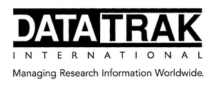 mark for DATATRAK INTERNATIONAL MANAGING RESEARCH INFORMATION WORLDWIDE., trademark #76203293