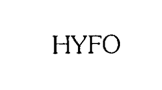 mark for HYFO, trademark #76203978