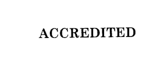 mark for ACCREDITED, trademark #76207820