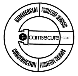 mark for ECAMSECURE.COM COMMERCIAL PROTECTIVE SERVICES CONSTRUCTION PROTECTIVE SERVICES, trademark #76208844