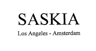 mark for SASKIA LOS ANGELES - AMSTERDAM, trademark #76211116