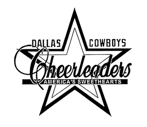 mark for DALLAS COWBOYS CHEERLEADERS AMERICA'S SWEETHEARTS, trademark #76211534