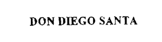 mark for DON DIEGO SANTA, trademark #76215059