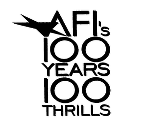 mark for AFI'S 100 YEARS 100 THRILLS, trademark #76219282