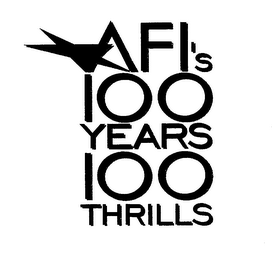 mark for AFI'S 100 YEARS 100 THRILLS, trademark #76219322