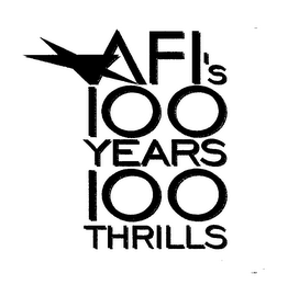 mark for AFI'S 100 YEARS 100 THRILLS, trademark #76219451