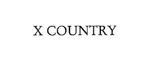 mark for X COUNTRY, trademark #76228706