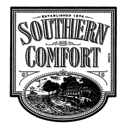 mark for SOUTHERN COMFORT ESTABLISHED 1874, trademark #76238005