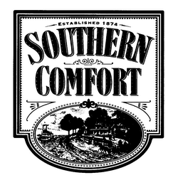mark for SOUTHERN COMFORT ESTABLISHED 1874, trademark #76239965