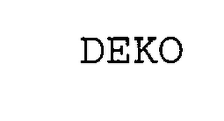 mark for DEKO, trademark #76241755