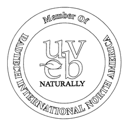 mark for MEMBER OF RADTECH INTERNATIONAL NORTH AMERICA UV EB NATURALLY, trademark #76247032