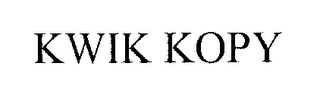 mark for KWIK KOPY, trademark #76250244