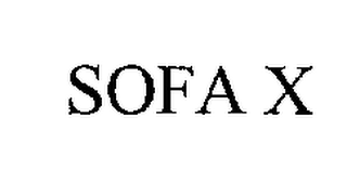 mark for SOFA X, trademark #76254644