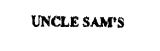 mark for UNCLE SAM'S, trademark #76264700
