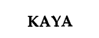 mark for KAYA, trademark #76268393