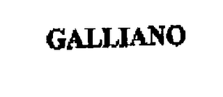 mark for GALLIANO, trademark #76273253