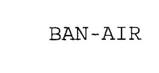 mark for BAN-AIR, trademark #76273738