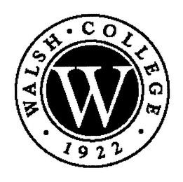 mark for W WALSH COLLEGE 1922, trademark #76274582