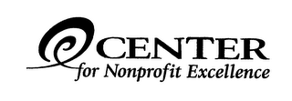 mark for CENTER FOR NONPROFIT EXCELLENCE, trademark #76275396