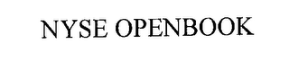 mark for NYSE OPENBOOK, trademark #76275610