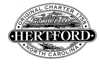 mark for ORIGINAL CHARTER 1758 HERTFORD NORTH CAROLINA, trademark #76291413