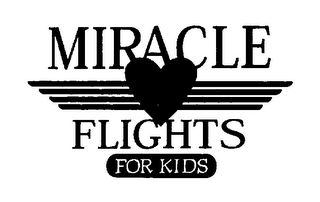 mark for MIRACLE FLIGHTS FOR KIDS, trademark #76291944