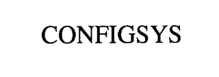 mark for CONFIGSYS, trademark #76294531