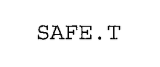 mark for SAFE.T, trademark #76299802
