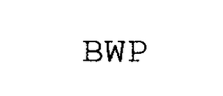 mark for BWP, trademark #76302583