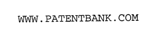 mark for WWW.PATENTBANK.COM, trademark #76310405