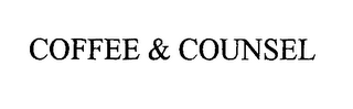 mark for COFFEE & COUNSEL, trademark #76316393