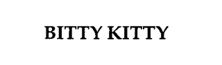 mark for BITTY KITTY, trademark #76318708