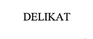 mark for DELIKAT, trademark #76319889
