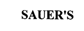 mark for SAUER'S, trademark #76320820