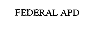 mark for FEDERAL APD, trademark #76325179