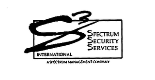 mark for S3 SPECTRUM SECURITY SERVICES INTERNATIONAL A SPECTRUM MANAGEMENT COMPANY, trademark #76329872