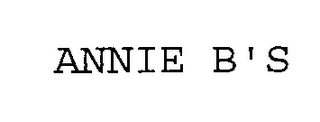 mark for ANNIE B'S, trademark #76336074