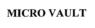 mark for MICRO VAULT, trademark #76339738