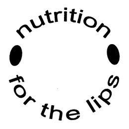 mark for NUTRITION FOR THE LIPS, trademark #76340250
