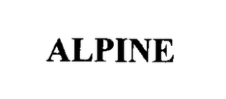 mark for ALPINE, trademark #76340947