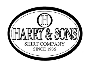 mark for HARRY & SONS SHIRT COMPANY SINCE 1936, trademark #76342018