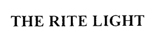 mark for THE RITE LIGHT, trademark #76344278