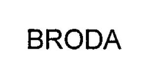 mark for BRODA, trademark #76349560