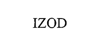 mark for IZOD, trademark #76353177