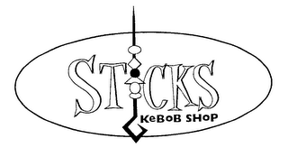 mark for STICKS KEBOB SHOP, trademark #76355089