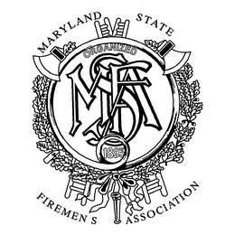 mark for MSFA MARYLAND STATE FIREMEN S ASSOCIATION ORGANIZED 1893, trademark #76362489